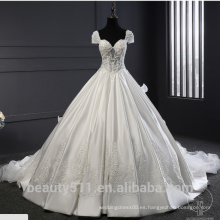 Astergarde cariño ruffle vestido de novia de manga corta vestido de novia TS220
