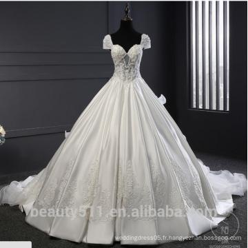 Astergarde sweetheart Ruffle Robe de mariée à manches courtes robe de mariée TS220