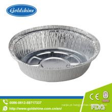 Bandejas descartáveis de alumínio redondas do acondicionamento de alimentos