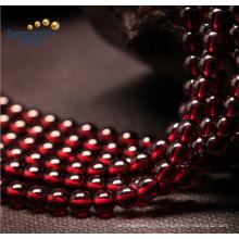 Фабричная цена Свободные пряди Небольшой размер Красный 5мм Гранат натуральный гранулы