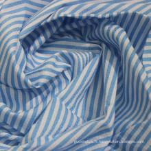 Tissu de chemise Dobby 100% coton imprimé