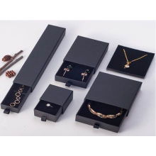Black Paper Drawer Jewelery Bracelet Rings Gift Box