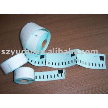 Étiquette personnalisée colorée personnalisée de dymo thermique