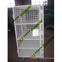 Warehouse Storage Folding Wire Mesh Roll Container