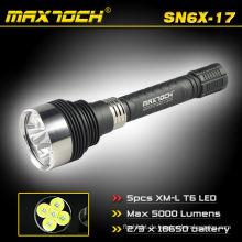 Maxtoch SN6X-17 5 * Cree T6 18650 führte wiederaufladbare Taschenlampe