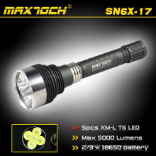 Maxtoch SN6X-17 5*Cree T6 18650 LED Rechargeable Torchlight