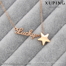 Necklace-00048-Xuping Personalized Gifts Gold Nameplate Necklace Stainless Steel Necklace