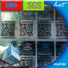 Custom 3d QR code security label sticker