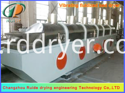 Bread crumbs for vibrating fluidized bed dryer