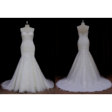 Vestido de casamento clássico sereia vestido de noiva