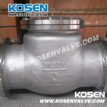 Válvula de retención abisagrada de extremo de acero inoxidable (H44)