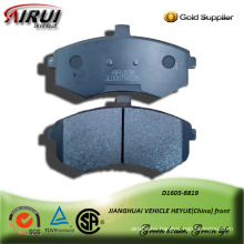 semi-metallic car brake pad for JIANGHUAI VEHICLE HEYUE front