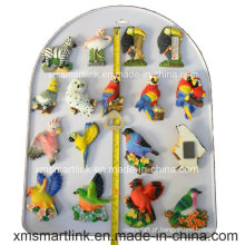 Ímã do Refridgerator do papagaio da lembrança de Polyresin da escultura
