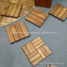 Bricolage Wood Deck Tile Origined Vietnam 4/5/6/12 slats