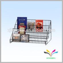 Supermarket supply metal wire display book rack