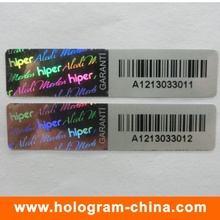 3D Laser Anti-Counterfeiting Barcode Hologram Stickers