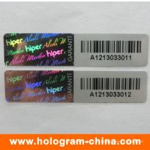Qr-Code-Etikett / Seriennummer-Etikett / Hologramm-Barcode-Etikett