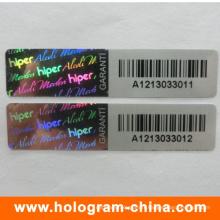Étiquette de code Qr / Étiquette de numéro de série / Étiquette de code à barres Hologramme