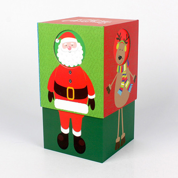 Custom Paper Christmas Mugs Gift Box Packaging