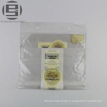 Sachet de pain en plastique transparent unique en gros