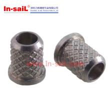 Inserção roscada de aço inoxidável
