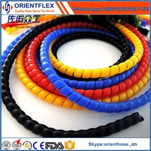 Black and Colorful Spiral Guard Hose Protector