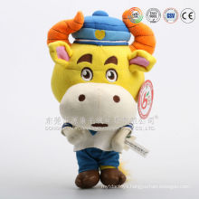 Import cow shape gifts cartoon plush cow toy from alibaba china factory
