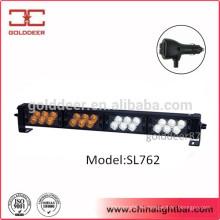 24W blanco ámbar LED cubierta luces estroboscópica LED de advertencia de luz para el coche (SL762)