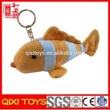 Wholesale Sea Animal Plush Toy Stuffed Soft Plush Fish Keychain