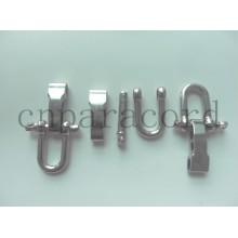Nuevo estilo de bloqueo fácil de metal hebilla ajustable CUALQUIER color y logotipo
