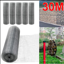 30 mètres de long galvanisé poulet lapin clôture jardin maille clôtures filet soudé net