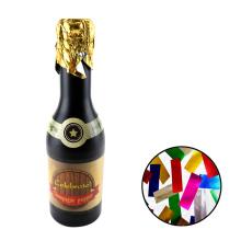 Cumpleaños confeti Champagne Bottle Party Popper CE con formas coloridas Rectángulo de papel de aluminio