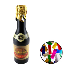 Birthday Confetti Champagne Bottle Party Popper CE with Colorful Foil Rectangle Shapes