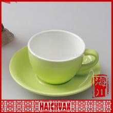 11 Unzen Farbe Sublimation Keramik Kaffeetasse Untertasse