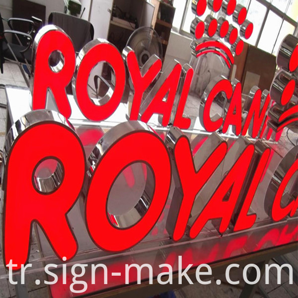 Red Frontlit Channel letter Sign