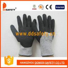 Gants de sécurité enduits de nitrile résistant à la coupure -Dcr441