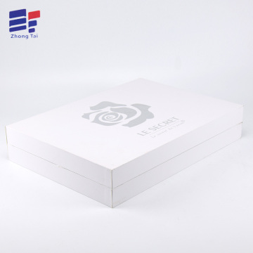 Silver hot stamping fold paper clothes box