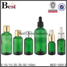 botella de aceite esencial de vidrio líquido, botellas de cuentagotas de vidrio líquido, botella vacía