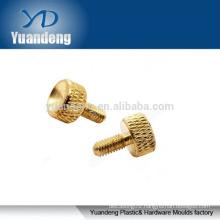 M4-0.7 brass knurled thumb screw