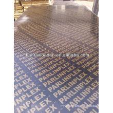 Contrachapado de película de alta calidad / Encofrado de Concreto Contrachapado Marino con pegamento WBP