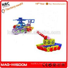 Пластмассовые магнитные строительные игрушки