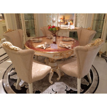 solid Furniture, high gloss  dining room,gold foil decorate
