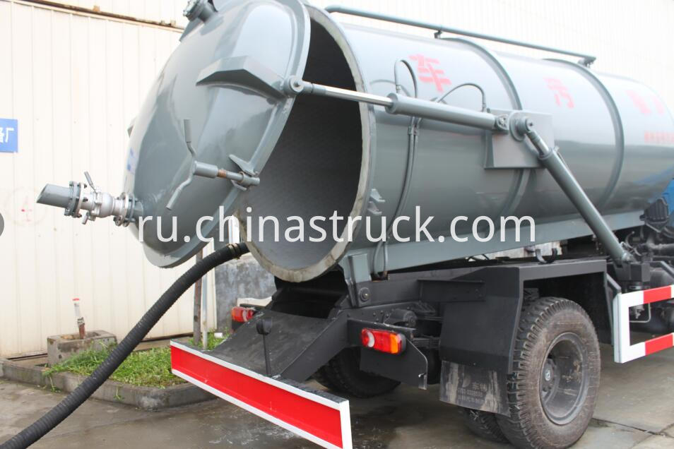 PE lined steel vacuum suction tank