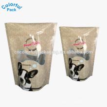 Empacotamento colorido plástico limitado que levanta-se sacos dos alimentos para cães sacos do alimento para cães
