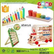 2016 ábaco mutifunctional del ábaco de los juguetes de madera del ábaco de los niños calientes de la venta