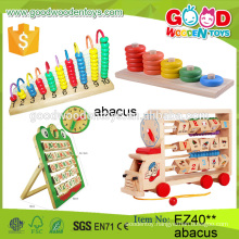 2016 hot sale children abacus wooden toys colorful toys abacus mutifunctional abacus