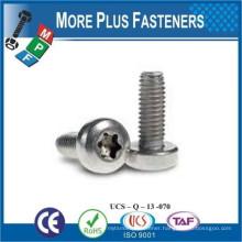 Made in Taiwan Type Z Drive Flat Head Zinc Finish Steel Trilobular Thread Rolling Screw