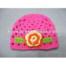 La manera y la venta caliente Colores sólidos Crochet el sombrero del bebé / el sombrero del ganchillo