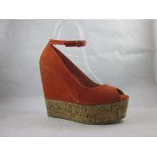 2016 novo estilo de moda peep toe senhoras sandálias (hyy03-090)