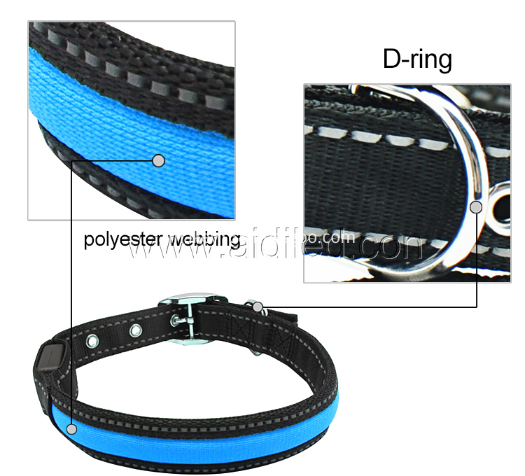 Light Blue Dog Collar